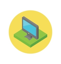 Isometric Computer Monitor Isolated vector image