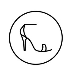 ladies shoes icon editable thin line vector image