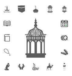 Lantern icon ramadan kareem eid mubarak vector