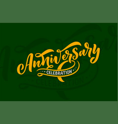 lettering for party invitation 50 years vector image