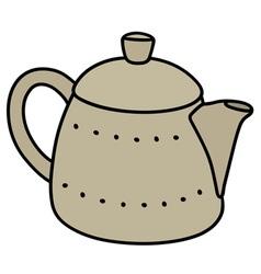 Light ceramic pot vector