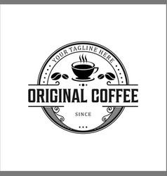 Logo for coffee shop vector