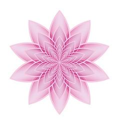 Lotus flower pink vector image