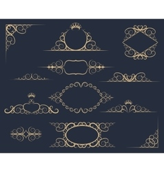 Luxury Decor Elements Set vector