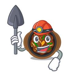 Miner bulgogi in a cartoon shape vector