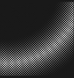 monochrome retro halftone square background vector image