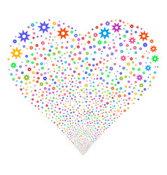 new fireworks heart vector image