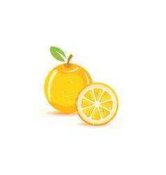 orange logo design icon vector image