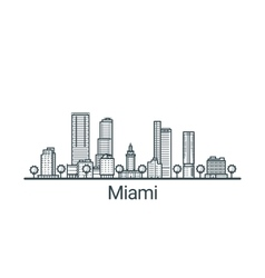 outline miami banner vector image