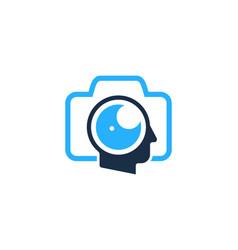 Photo human head logo icon design vector