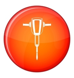 Pneumatic plugger hammer icon flat style vector image