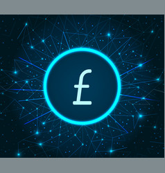 pound sterling great britain currency icon vector image