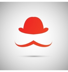 red hat on a white background vector image