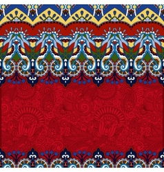 Red ornamental floral folkloric background for vector