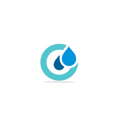 round droplet water logo vector image