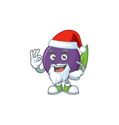 Santa acai berries character for fresh fruit vector