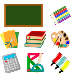 Set of school and education icon vector