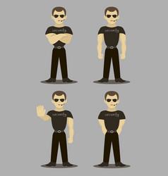 set of security men vector image