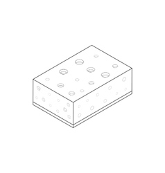 Sponge for washing dishes icon isometric 3d style vector image