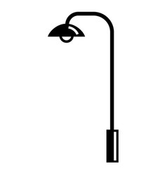 street light pillar icon simple style vector image