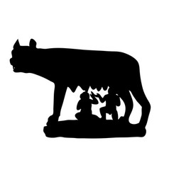 Symbol of rome antiquity capitoline wolf vector