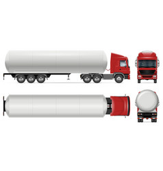 Tank truck mockup isolated vehicle template vector