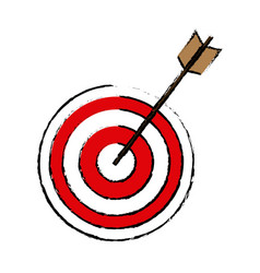 Target arrow marketing business successful design vector
