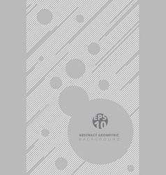 template gray color line with circle background vector image