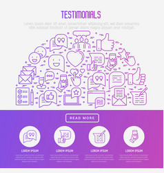 Testimonials and quote concept in half circle vector