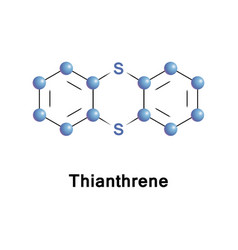 Thianthrene is a sulfur-containing heterocycles vector