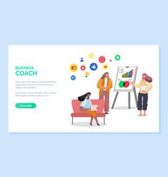 training online business coach website vector image