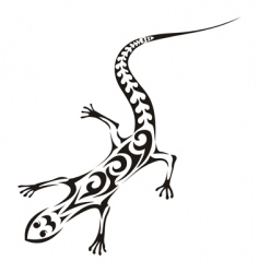 Tribal lizard tattoo vector