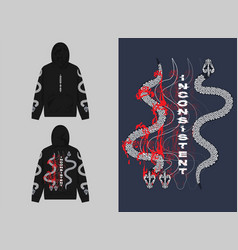 Twin snakes vector