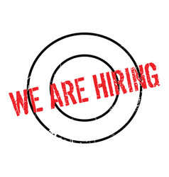 We are hiring rubber stamp vector