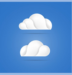 white clouds icons on blue background vector image