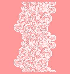 white lacy vintage elegant trim vintage pattern vector image
