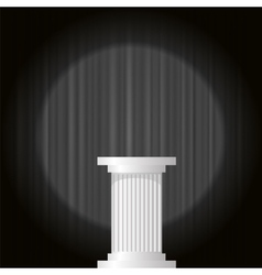 White Marble Greek Column vector image