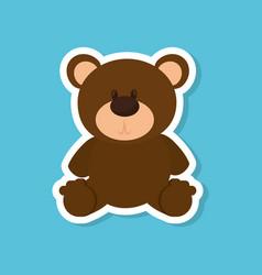 bear teddy baby toy vector image