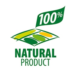 logo garden beds for 100 natural products vector image vector image