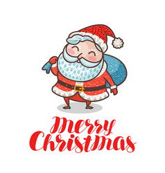 merry christmas greeting card or banner cute vector image vector image