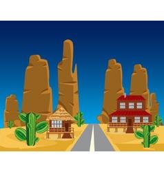 Road in desert vector image vector image