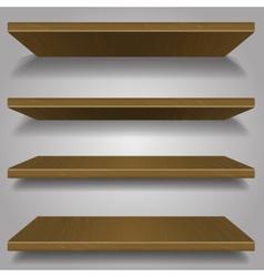 wood bookshelf design vector image