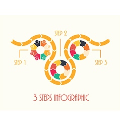 3 steps infographic vector image vector image