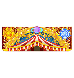 carnival banner for birthday card vector image