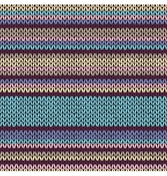 Seamless Color Striped Knitted Pattern vector image vector image