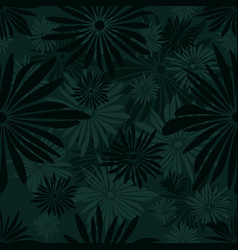 seamless floral pattern with green and gray vector image vector image