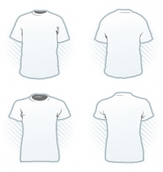 t-shirt design template set vector image vector image