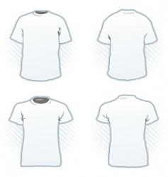 t-shirt design template set vector image vector image