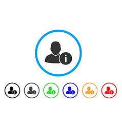 user info rounded icon vector image