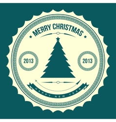 Christmas tree applique background vector image